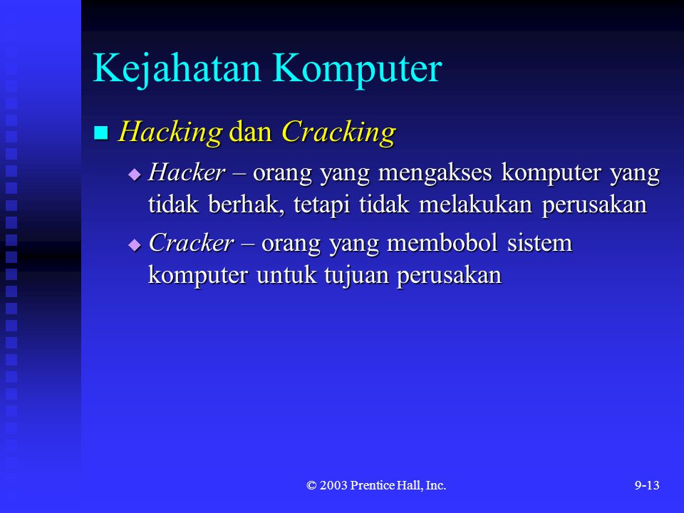 Kejahatan Komputer Hacking dan Cracking