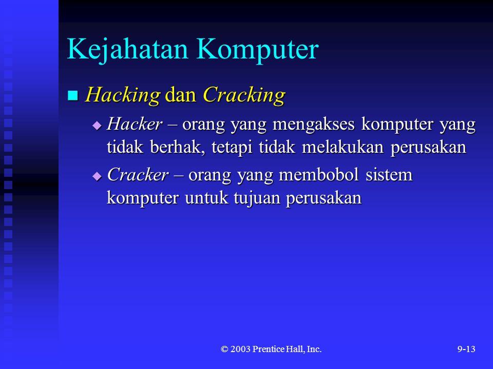 Kejahatan Komputer Hacking dan Cracking