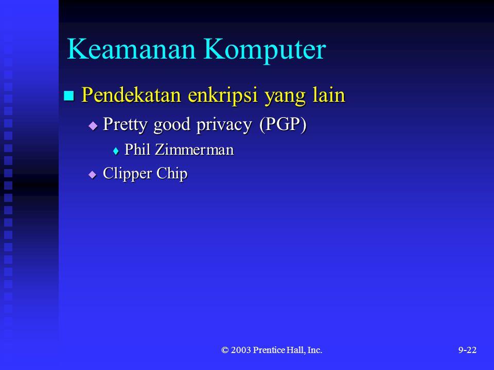 Keamanan Komputer Pendekatan enkripsi yang lain