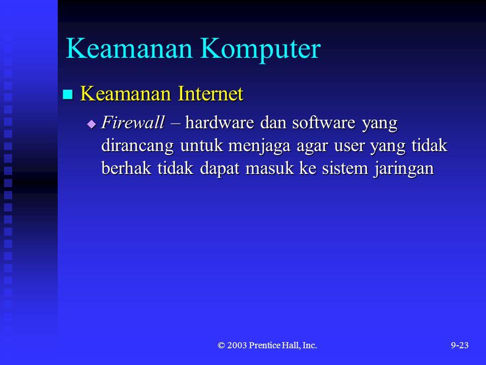 Keamanan Komputer Keamanan Internet