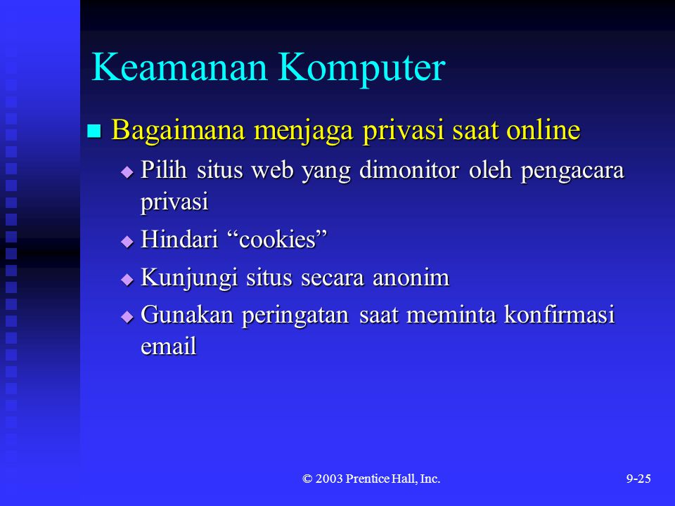 Keamanan Komputer Bagaimana menjaga privasi saat online