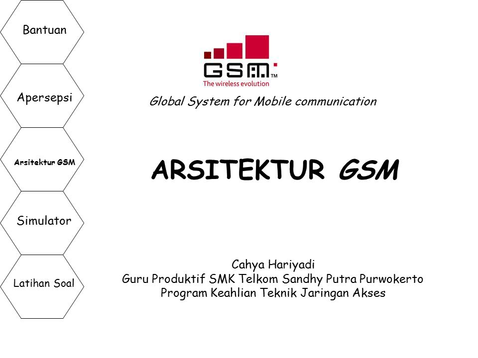 ARSITEKTUR GSM Bantuan Apersepsi