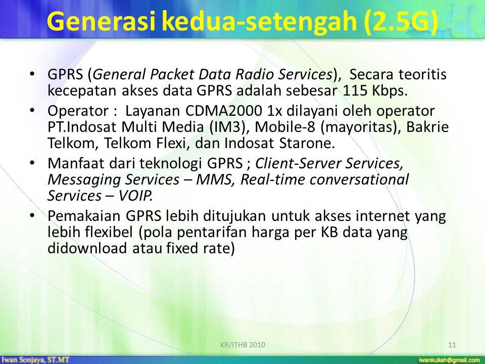 Generasi kedua-setengah (2.5G)