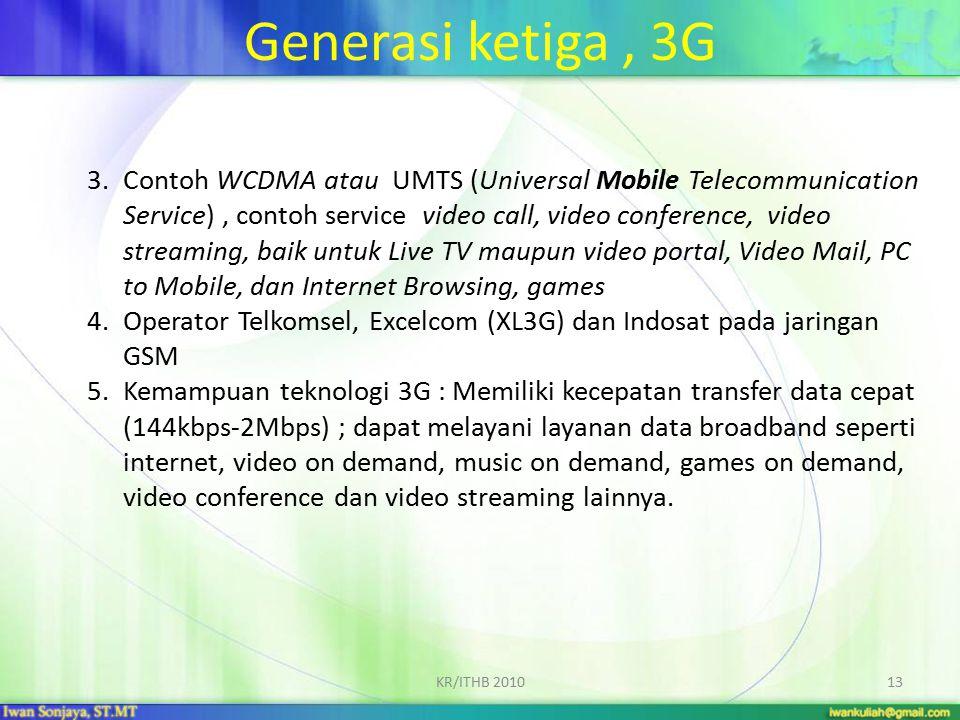 Generasi ketiga , 3G