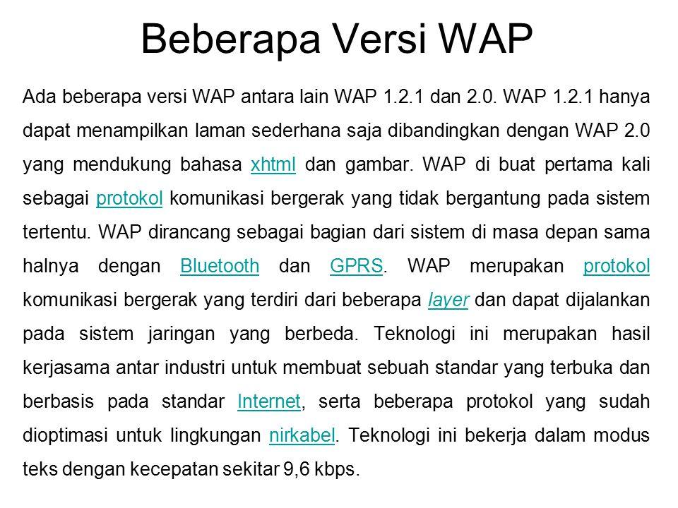 Beberapa Versi WAP