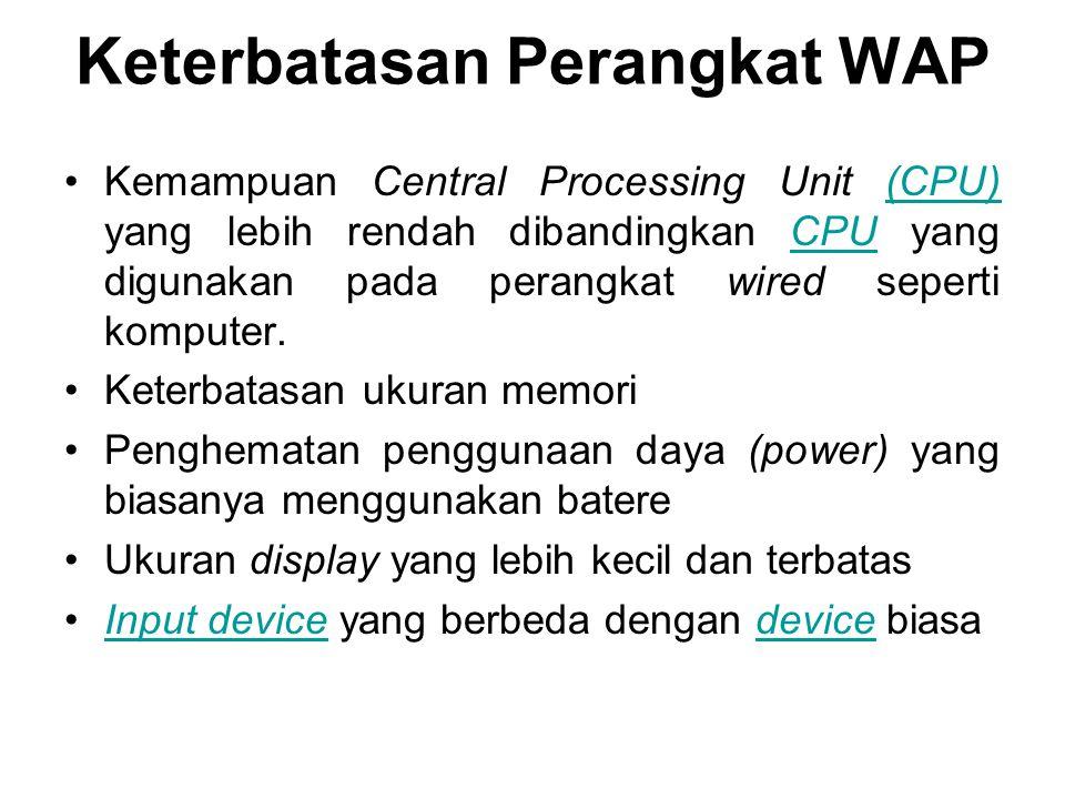 Keterbatasan Perangkat WAP
