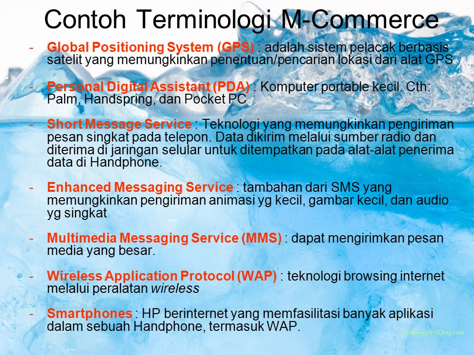 Contoh Terminologi M-Commerce