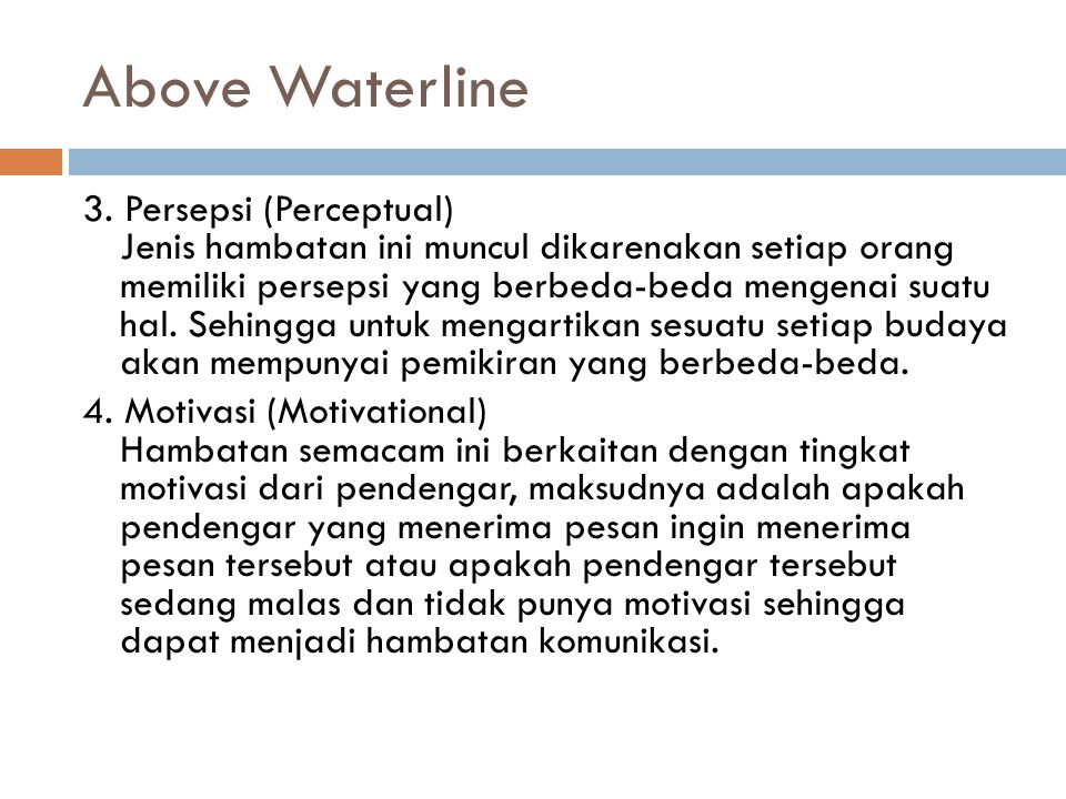 Above Waterline