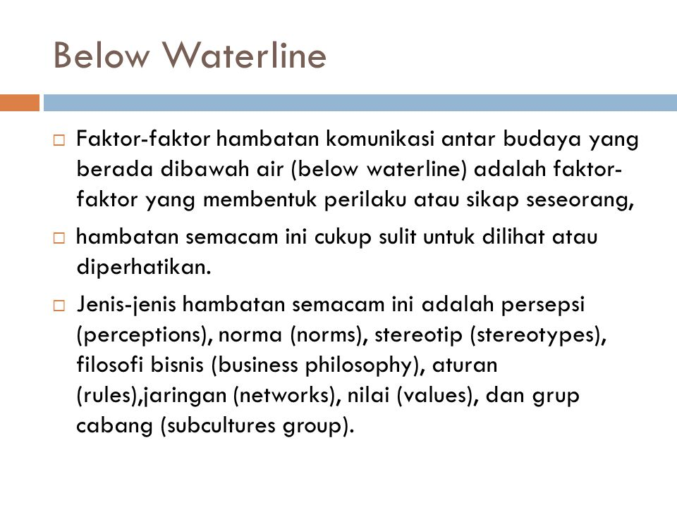 Below Waterline