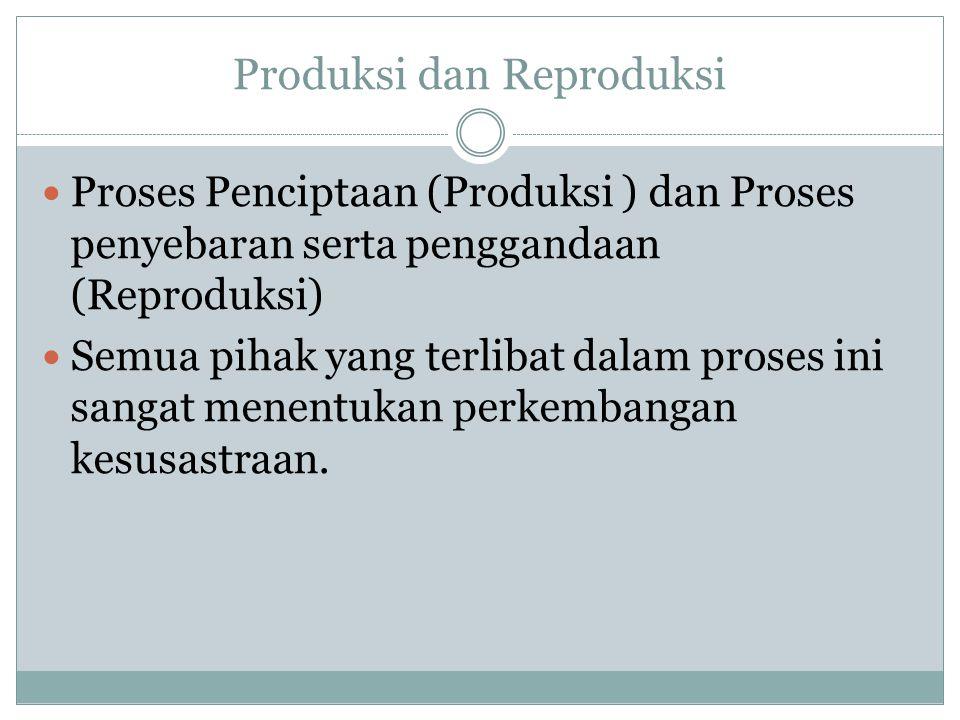 Produksi dan Reproduksi