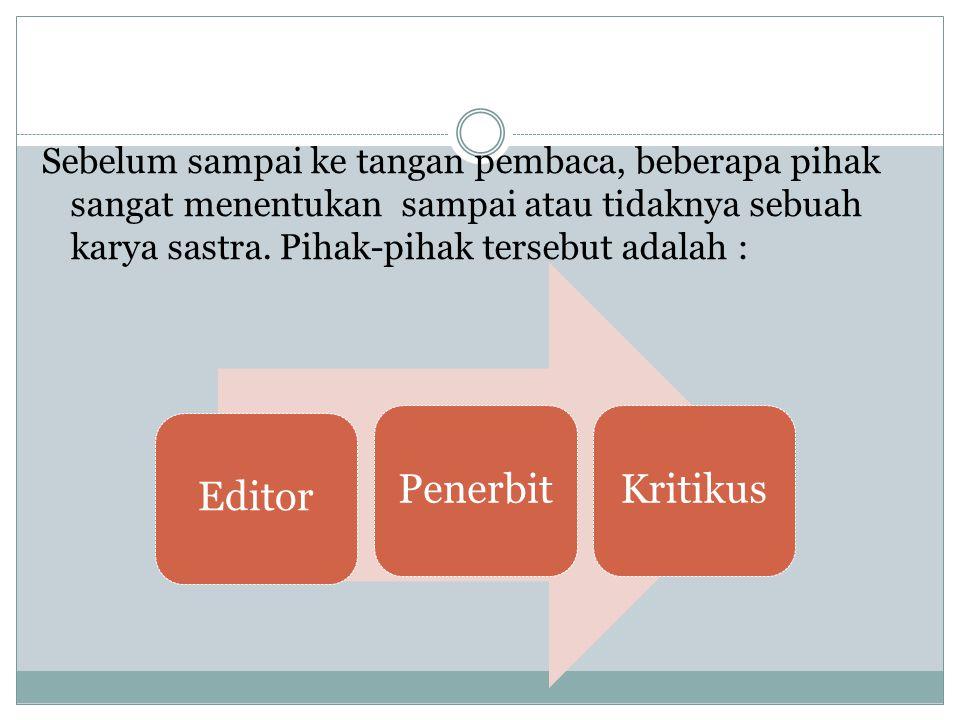 Editor Penerbit Kritikus