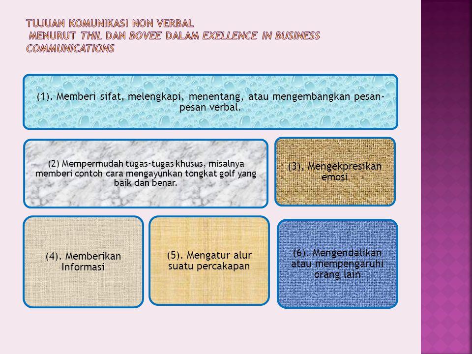 (4). Memberikan Informasi (5). Mengatur alur suatu percakapan