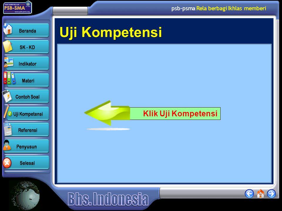 Uji Kompetensi Klik Uji Kompetensi