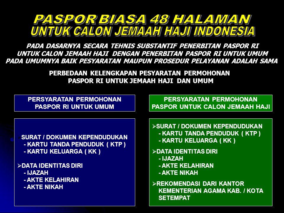 UNTUK CALON JEMAAH HAJI INDONESIA
