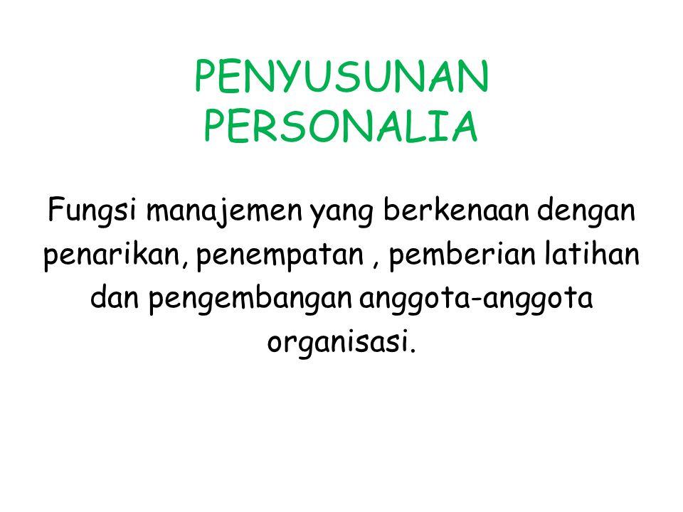 PENYUSUNAN PERSONALIA