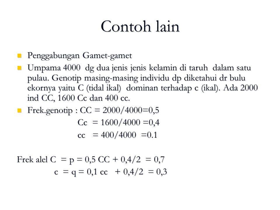 Contoh lain Penggabungan Gamet-gamet