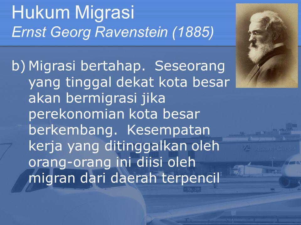 Hukum Migrasi Ernst Georg Ravenstein (1885)