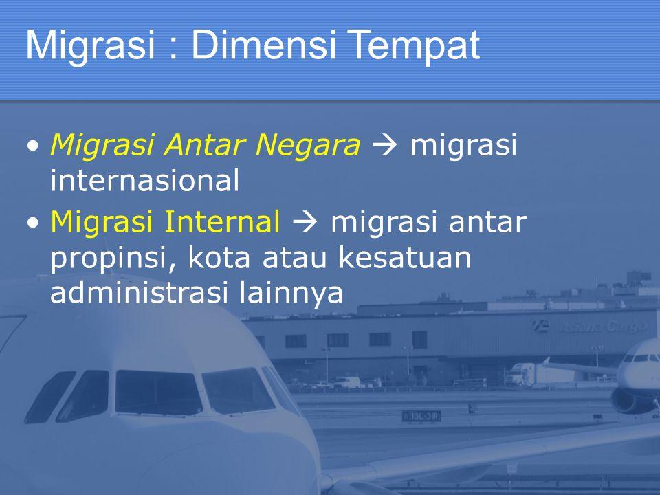 Migrasi : Dimensi Tempat