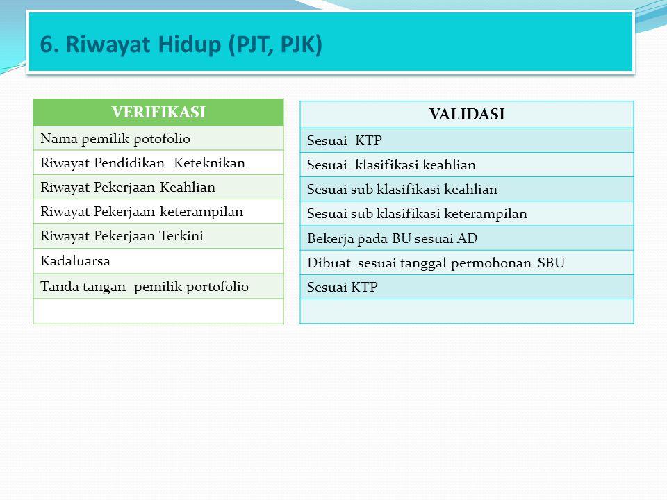 6. Riwayat Hidup (PJT, PJK)
