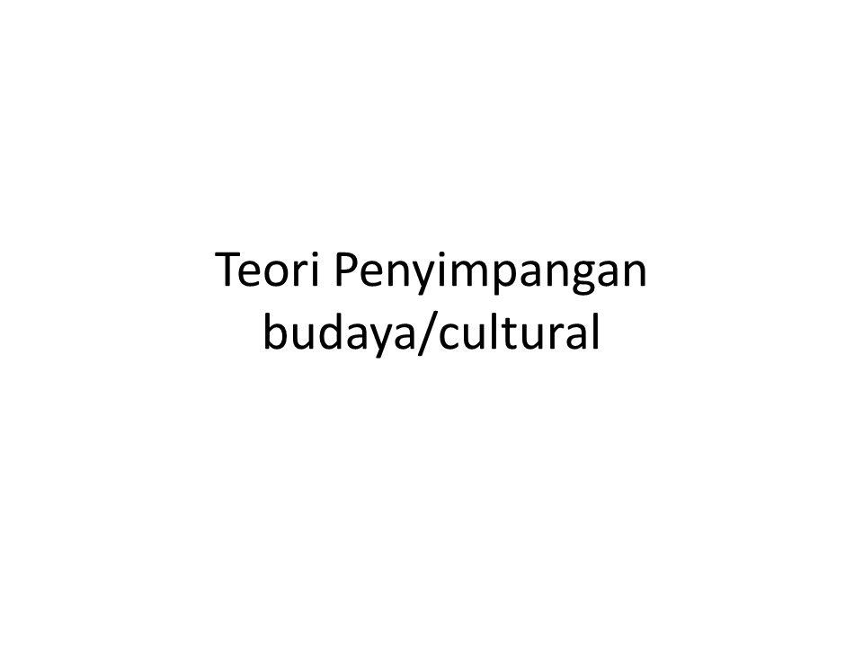 Teori Penyimpangan budaya/cultural