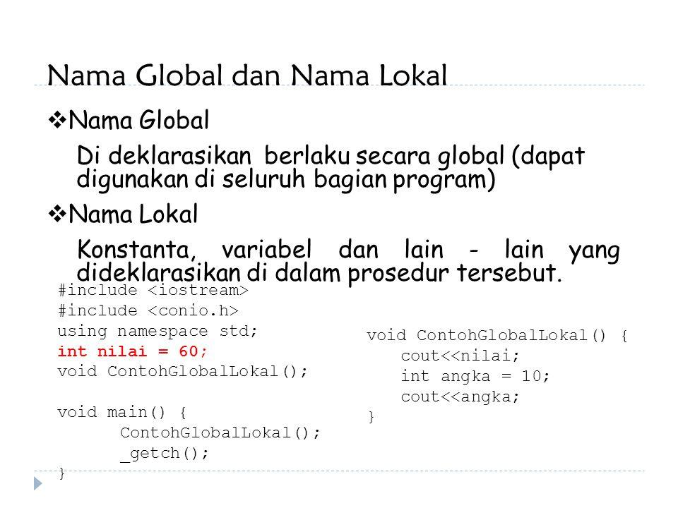 Nama Global dan Nama Lokal