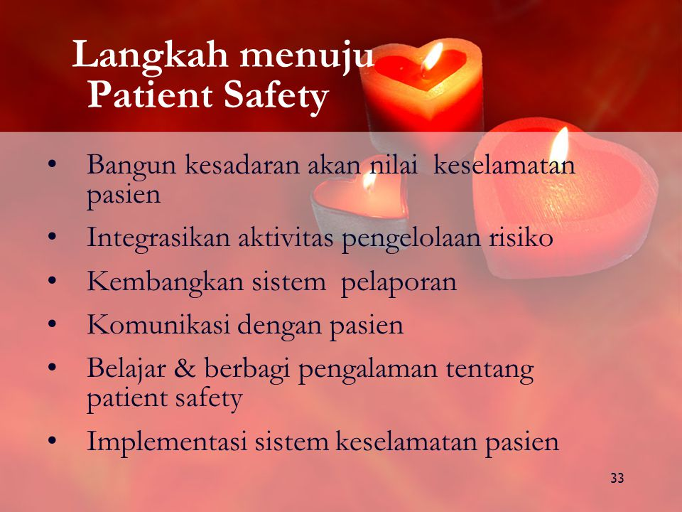 Langkah menuju Patient Safety