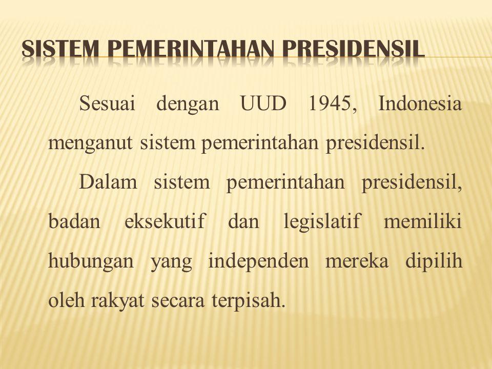 Sistem Pemerintahan Presidensil