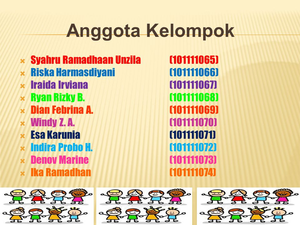 Anggota Kelompok Syahru Ramadhaan Unzila (101111065)