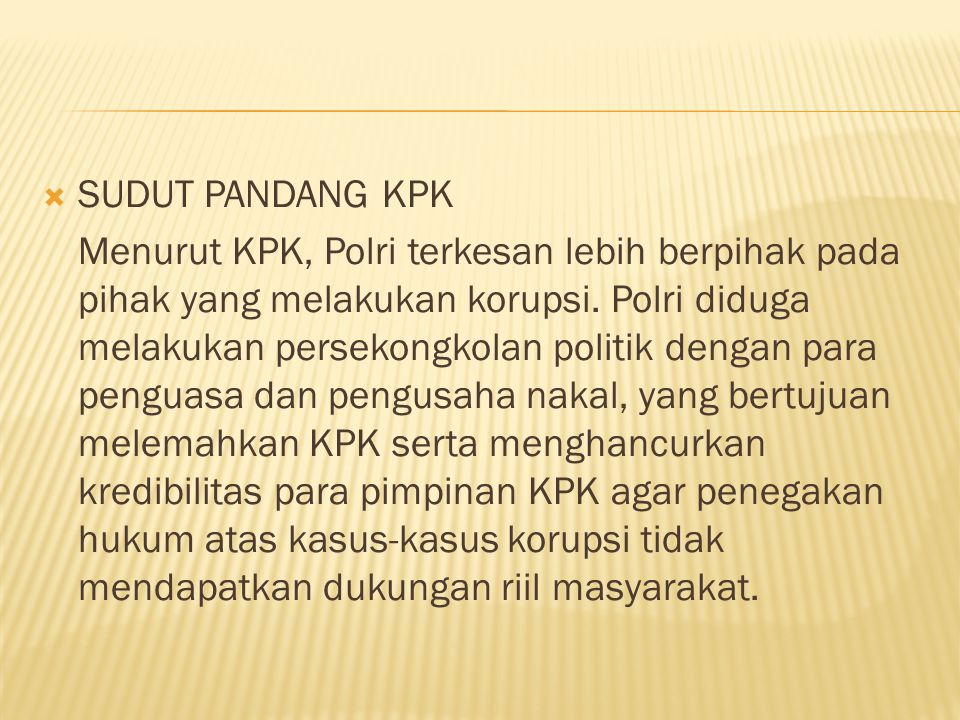 SUDUT PANDANG KPK