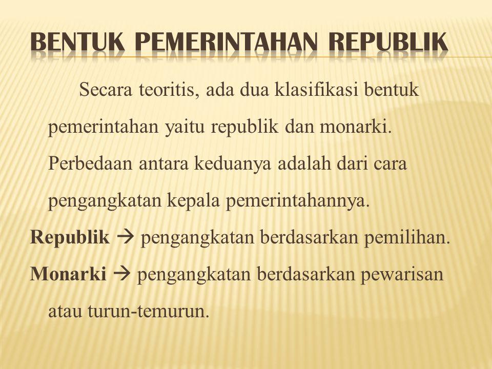 Bentuk Pemerintahan Republik
