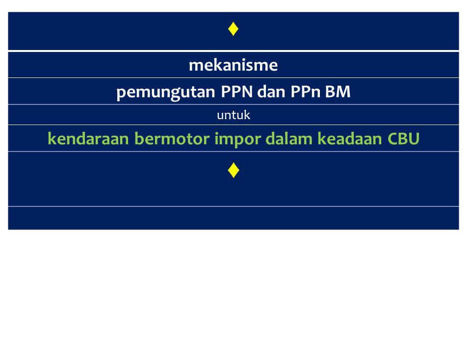 pemungutan PPN dan PPn BM kendaraan bermotor impor dalam keadaan CBU