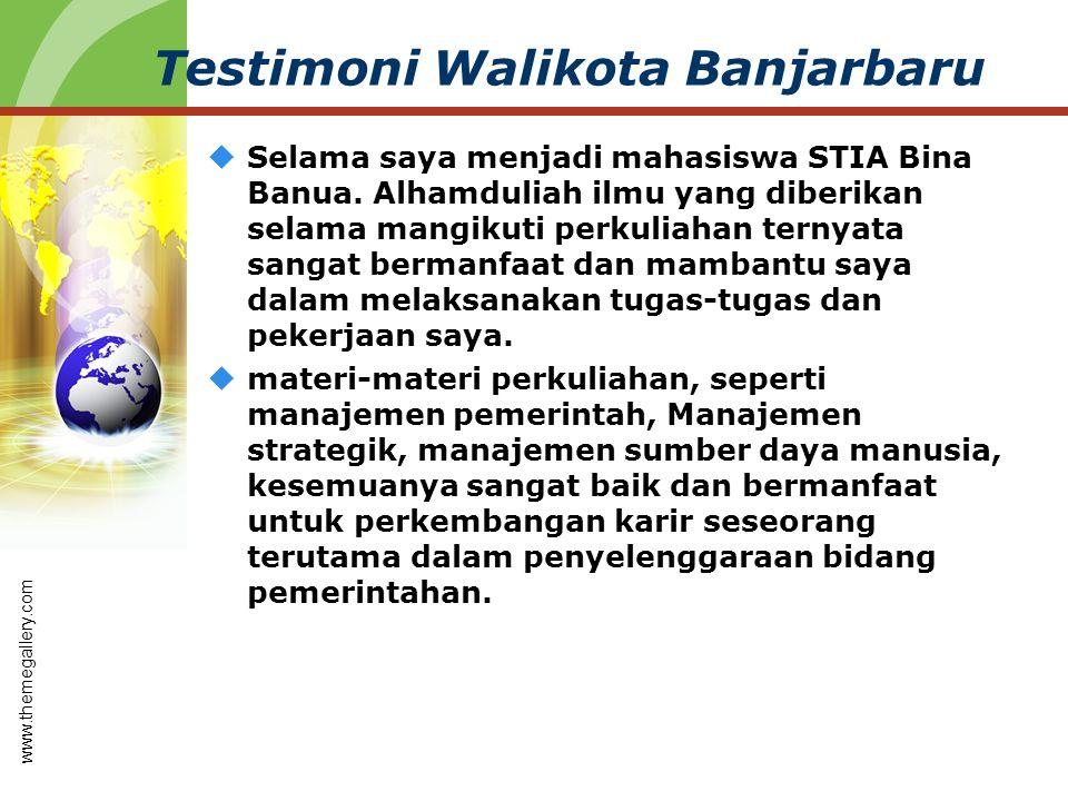 Testimoni Walikota Banjarbaru