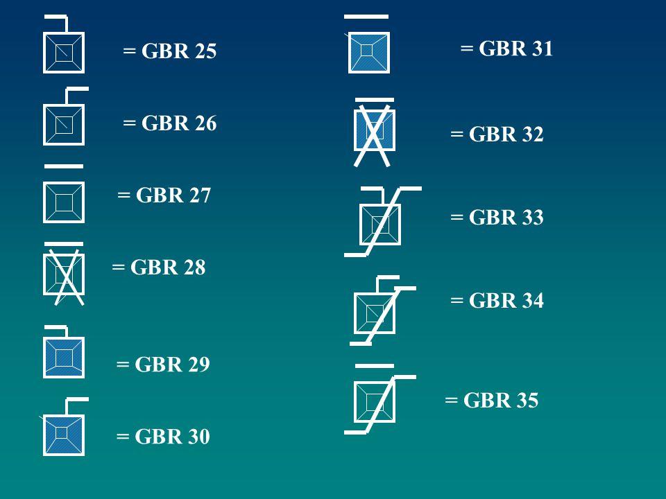 = GBR 25 = GBR 31 = GBR 26 = GBR 32 = GBR 27 = GBR 33 = GBR 28 = GBR 34 = GBR 29 = GBR 35 = GBR 30