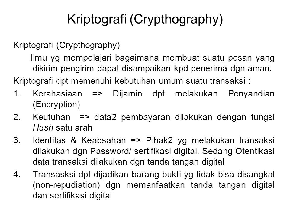 Kriptografi (Crypthography)