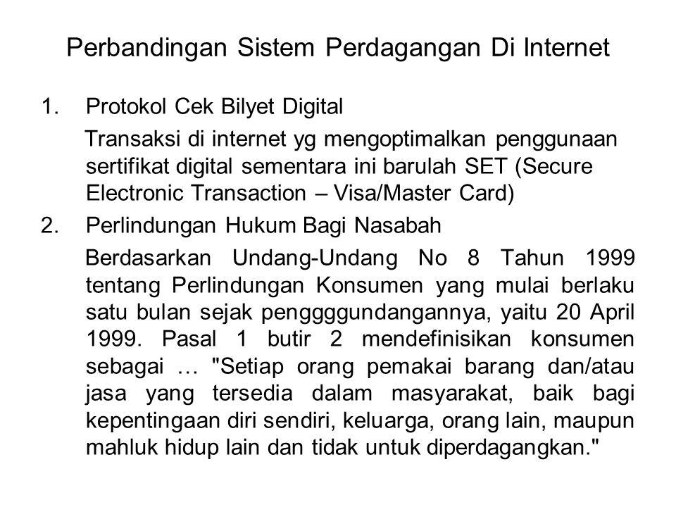 Perbandingan Sistem Perdagangan Di Internet