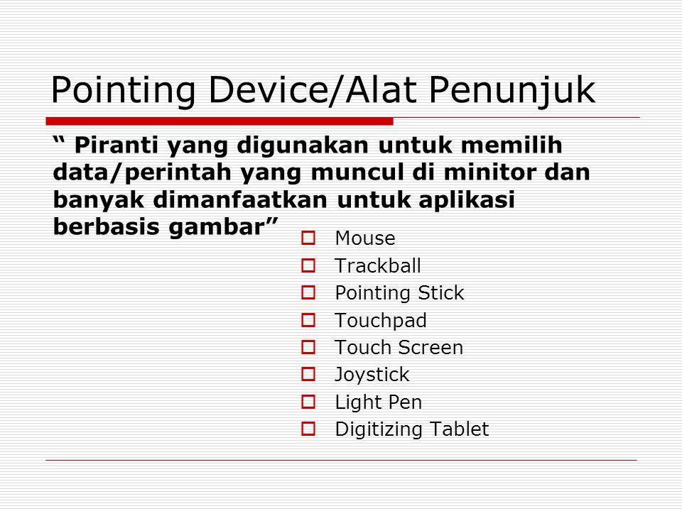 Pointing Device/Alat Penunjuk