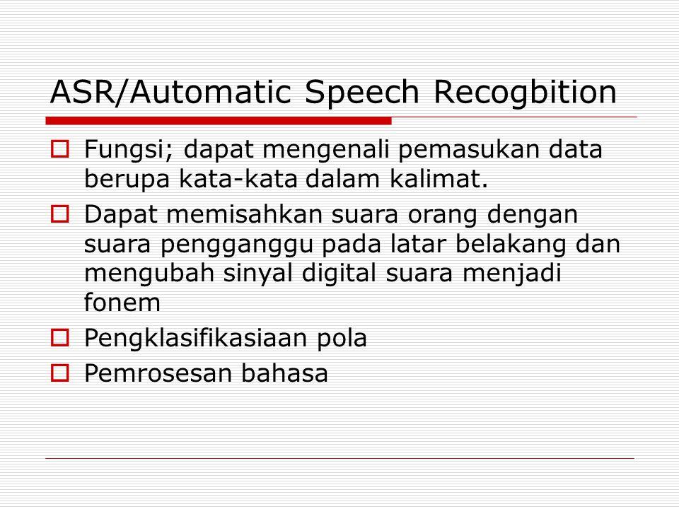 ASR/Automatic Speech Recogbition