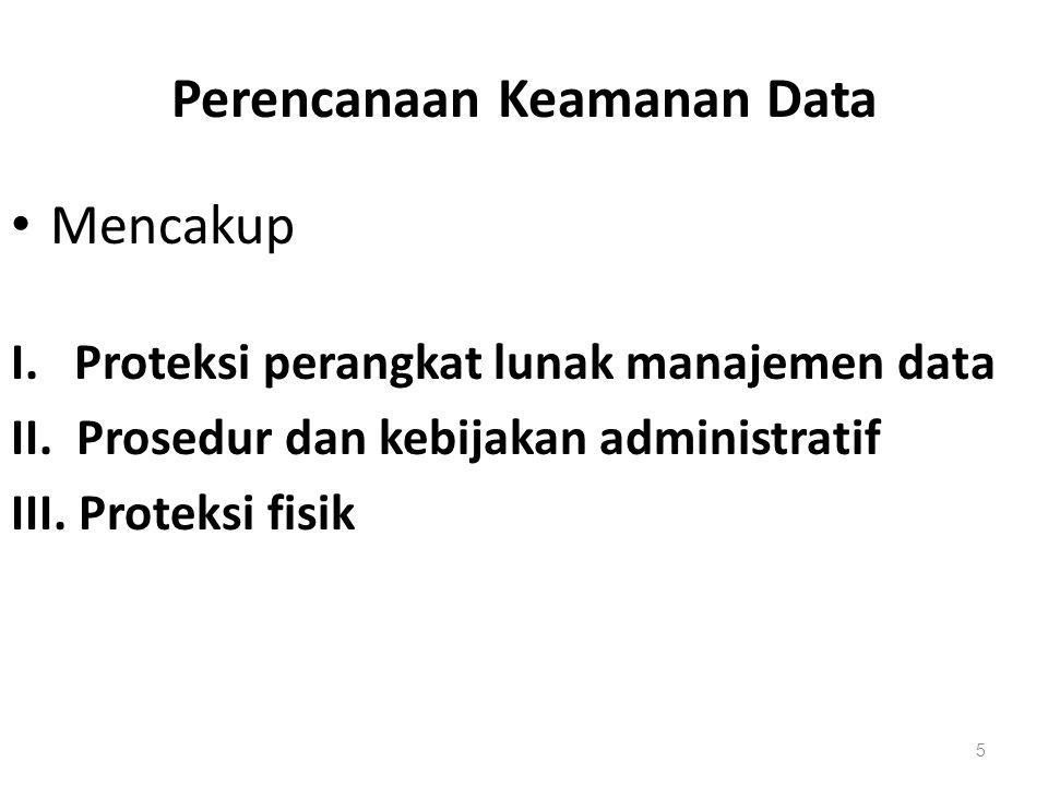 Perencanaan Keamanan Data