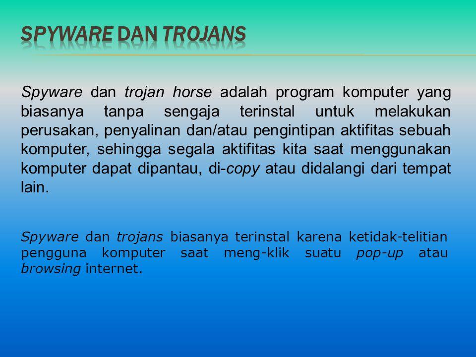 Spyware dan trojans