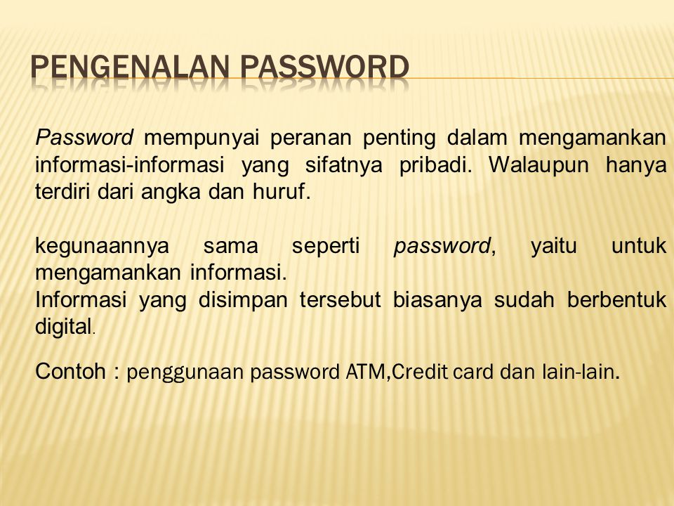 Pengenalan password