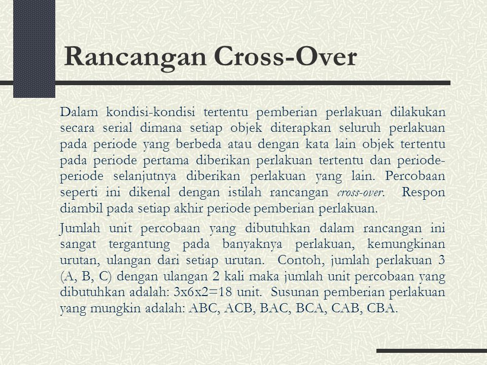 Rancangan Cross-Over