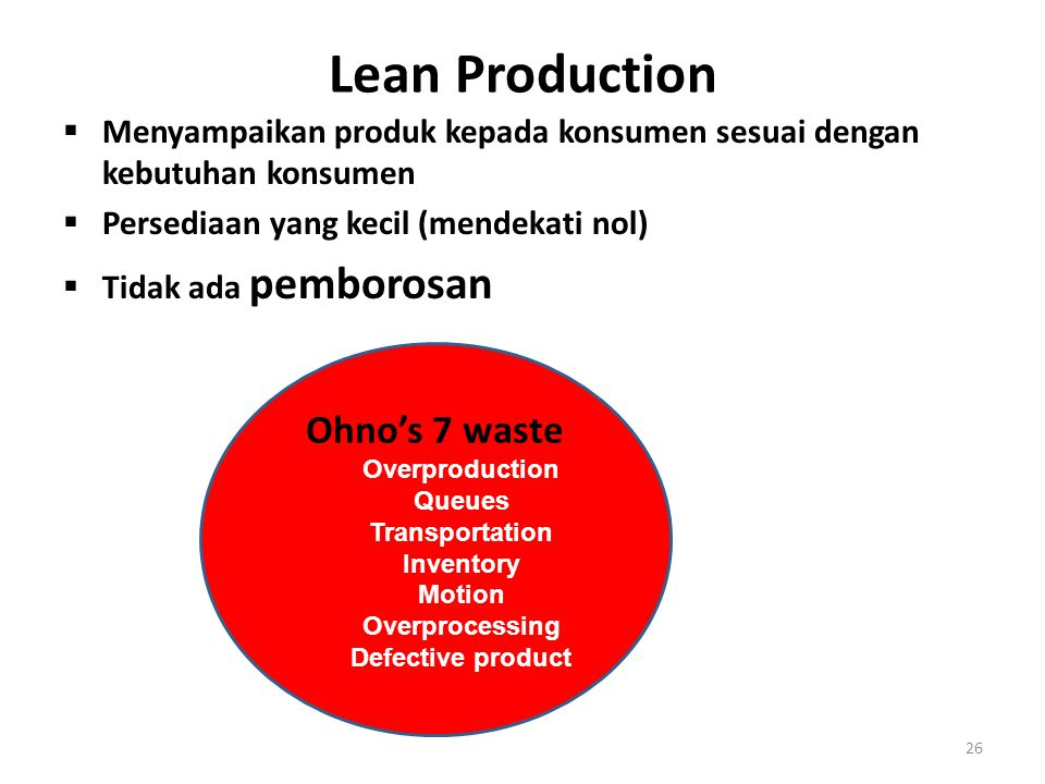 Lean Production Ohno's 7 waste