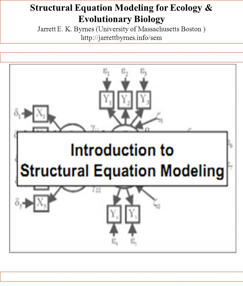 Structural Equation Modeling for Ecology & Evolutionary Biology