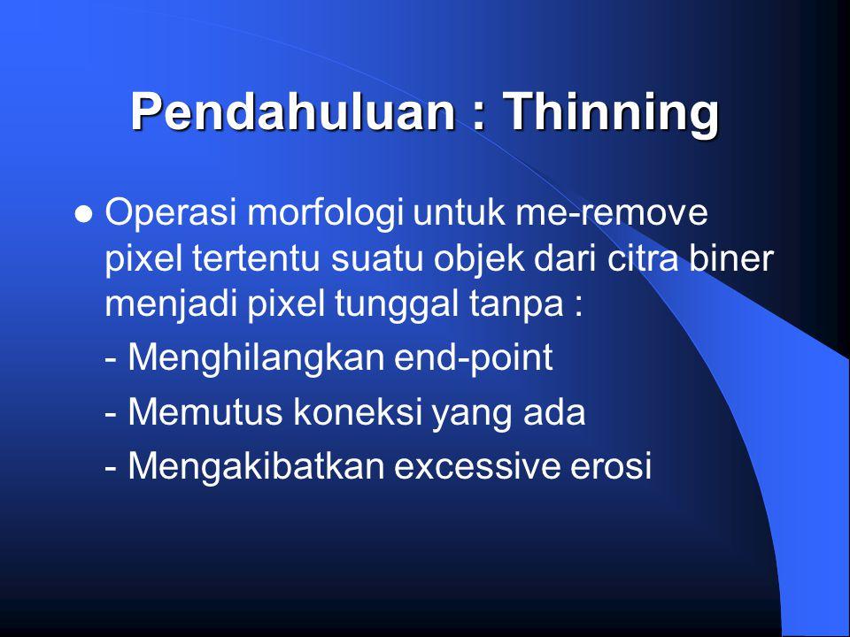 Pendahuluan : Thinning