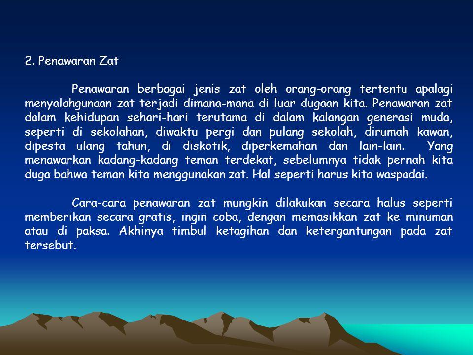 2. Penawaran Zat