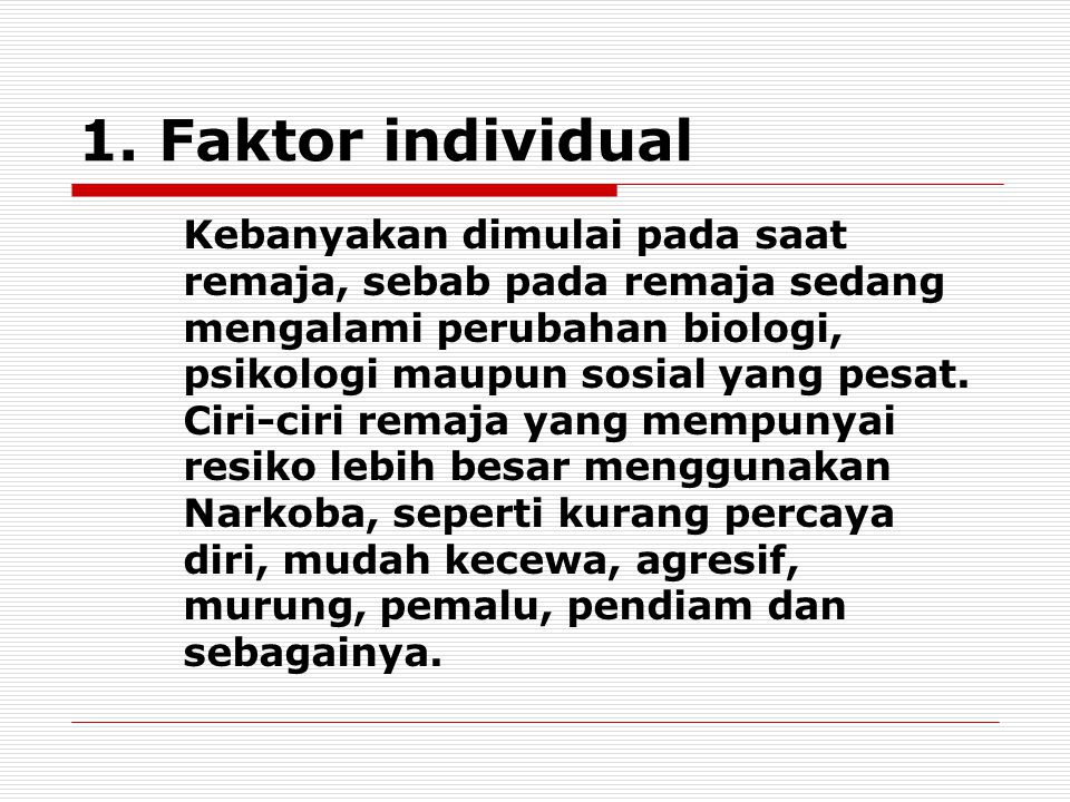 1. Faktor individual
