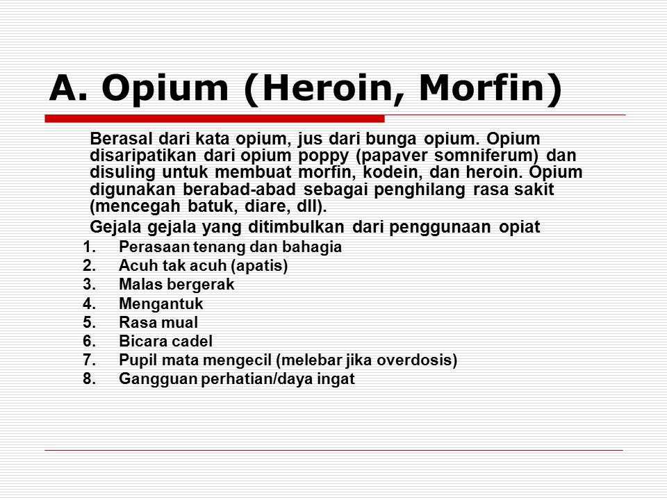 A. Opium (Heroin, Morfin)