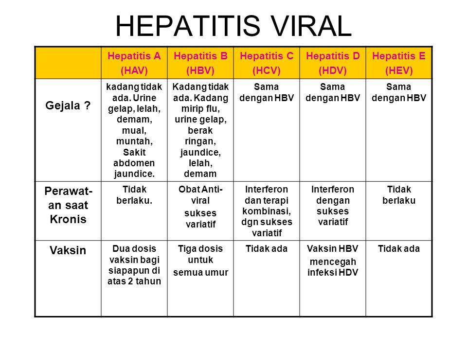 HEPATITIS VIRAL Gejala Perawat-an saat Kronis Vaksin Hepatitis A