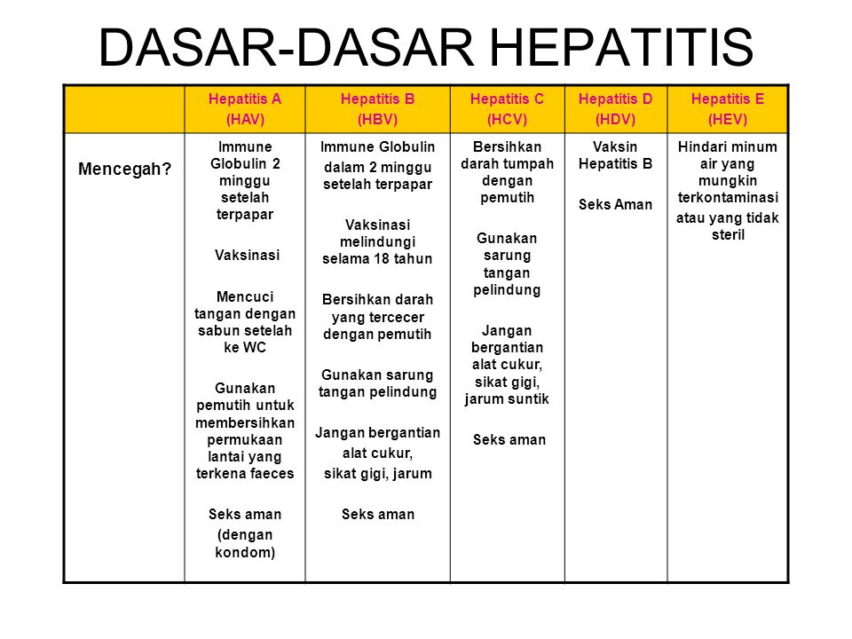 DASAR-DASAR HEPATITIS