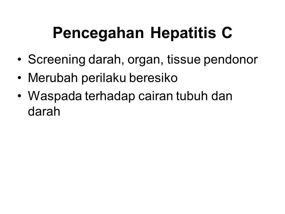 Pencegahan Hepatitis C